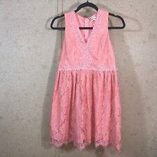 Altar'd State Women's Size L Lace A-Line Dress V-Neck Sleeveless Blush Pink
