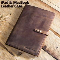"""12"""" Genuine Rustic Leather Case Smart Cover Pouch Tablet Sleave For iPad MacBook"""