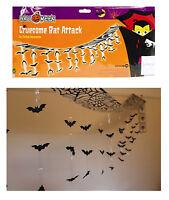 Bat Attack Halloween Garland Party Decoration 3m 42 Bats 1st Class 4pm Cut off