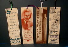 1990's Set of 4 different Walt Disney Quote Bookmarks