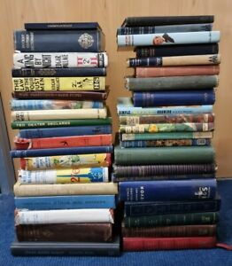 Joblot 40 vintage books bar display shabby chic antique collectable (vb18101)