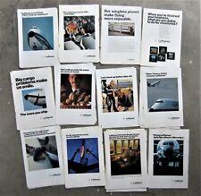 50x LUFTHANSA GERMAN AIRWAYS Airlines Vintage Magazine Page Advertisements Ads