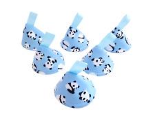 Blue Panda Pee Pee Teepee x 6 // Wee Stop Cones Teepees // Boy Baby Shower Gift