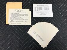 NOS Gottlieb Pyramid Pinball Machine Apron Game Instruction Score Card Set