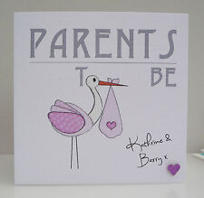 Personalised Baby Shower Card for Mum and Dad to be - Girl or Boy