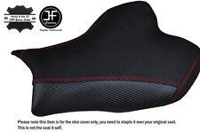 CARBON GRIP RED STITCH CUSTOM FITS SUZUKI GSXR 1000 09-12 FRONT SEAT COVER