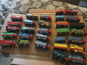 Mattel Thomas & Friends TrackMaster Lot 43 Pieces 15 Engine, 22 Cars, 6 attached