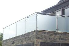 Frosted 10mm Toughened Glass Balustrade Panel 1200mm x 1000mm for SATIN ACID ...