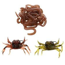 Appât de Pêche Douce en Forme de Crabe 3D Simulation de Ver de Terre