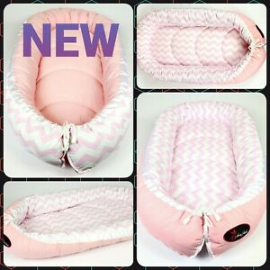 BABY NEST POD COCOON Sleeping normal size 0-6 m HIGH QUALITY pink chevron