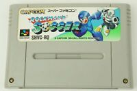 Rockman's Soccer Megaman SNES Capcom Nintendo Super Famicom From Japan