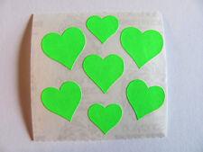 Vintage Sandylion Neon Green Hearts Sticker Mod