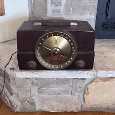 Working 1950's Antique Zenith T-825 AM/FM Bakelite Tube Radio Vintage USA Made