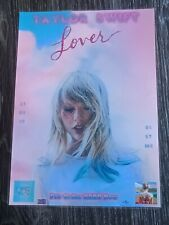 TAYLOR SWIFT - LOVER - LAMINATED PROMOTIONAL MUSIC SHOP COUNTER POSTER - NEW!