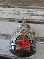 VTG Inge Glas Silver Castle German Old World Blown Glass Holiday Ornament RARE