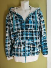 HoodieBuddie Men's Size M Blue/Black/White Color Full Zip Wired For Sound Hoodie