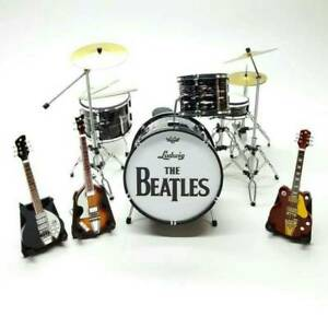 miniature musical instrument set the beatles with 3 guitars