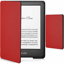 Kindle 2019 Case | Smart Protective Cover Slim Light | Red + Stylus Protector