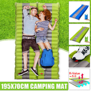 Thick Self Inflating Camping Pillow Roll Mat/Pad Sleeping Bed Mattress With Bag