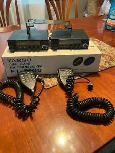 (2) YAESU FT-5100 VHF/UHF Dual Band FM Transceivers. Both work (see discription)