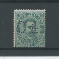 REGNO 1887 FRANCALETTERE N.2 4 SG  CERT.