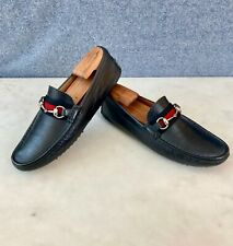 Gucci Men's Horsebit Moccasins / Loafers size 6.5 G = US 7.5 *Authentic*