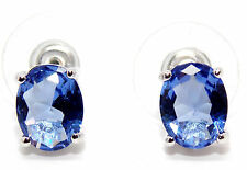 Sterling Silver Tanzanite 3.45ct Stud Earrings (925) Free Gift Box