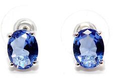 Sterling Silver Tanzanite 3.45ct Stud Earrings (925)