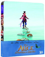 ALICE Attraverso Lo Specchio - STEELBOOK EDITION (BLU-RAY 3D + 2D) Johnny Depp