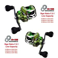 Baitcast Fishing Reels 18+1Bb Super Smooth 7.2:1 Fresh Water Left Right Hand Us