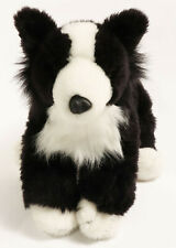 "Animal Alley Stuffed Plush Border Collie Puppy Dog 17"" Black White Toys R Us"