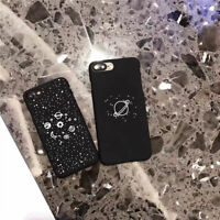Star Planet Black Hard PC Lovers Phone Case Cover For iphone 5 SE 6 6s 7 Plus