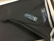 Taglio Tessuto per abito Guabello ONEthirty Super 130's blu scuro gessato