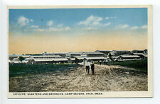 Ayer MA Mass men walking along road, Fort Devens, Officers' Quarters, barracks