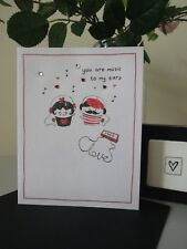 Favourite Music Love Valentines Day Card  Wife Husband Boyfriend Girlfriend