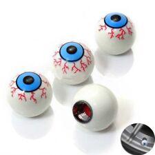 4 Pcs / Set Eyeball Motocycle Bicycle Car Wheel Tire Caps Valve Air Stem Cover