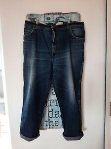 Wrangler Texas Retro Vintage Jeans Size 22 Denim W 42 L 28 Mom High Waist