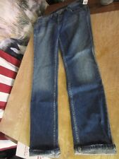 nwt BDG Urban Outfitters Straight BOYFRIEND low Long Cuffed JEANS 28 distressed