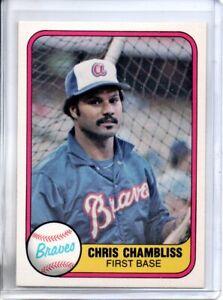 1981 FLEER CHRIS CHAMBLISS (NM/MT)