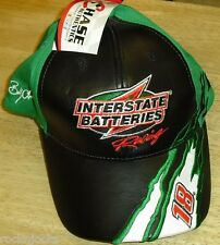 Bobby Labonte LEATHER TYPE BILL FRONT Nascar Racing Adjustable hat NEW TAGS!