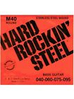 Set corde per basso elettrico 4 corde La Bella Hard Rock Steel M40 - 040-95 tens for sale