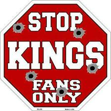 NBA Basketball Sacramento Kings Metal Stop Sign Man Cave Garage Barn Shop BS-268