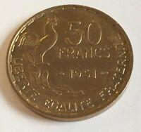 Ref2 Monnaie 50 Francs Guiraud 1951 Etat Spl Voir Photos Contractuelles