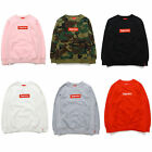 HOT 2017 Spring&Autumn brand new Supreme Box Logo Crewneck camouflage Size S-2XL