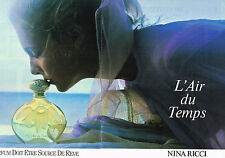 PUBLICITE ADVERTISING 064  1985  NINA RICI AIR DU TEMPS D. HAMILTON (2 pa