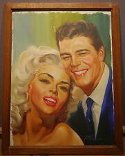 Peinture Originale RINO FERRARI Portrait Couple Amoureux Couverture NOUS DEUX