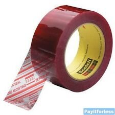 """2"""" x 110 Yds 1.9 Mil Clear 3M 3779 Security Seal Carton Sealing Tape 36 Rolls"""
