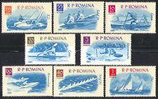Romania 1962 SPORT/barche a vela// Canottaggio/Yacht/Canoa 8v Set (n32604)