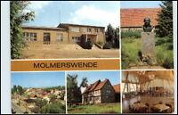 """DDR Ansichtskarte MOLMERSWENDE Kr. Hettstedt ua. """"Dorf Tenne"""", Gaststätte FDGB"""