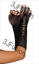 Fishnet Elbow Length Gloves Fancy Dress 80's Gothic Punk Hen Party FREE POST (P)